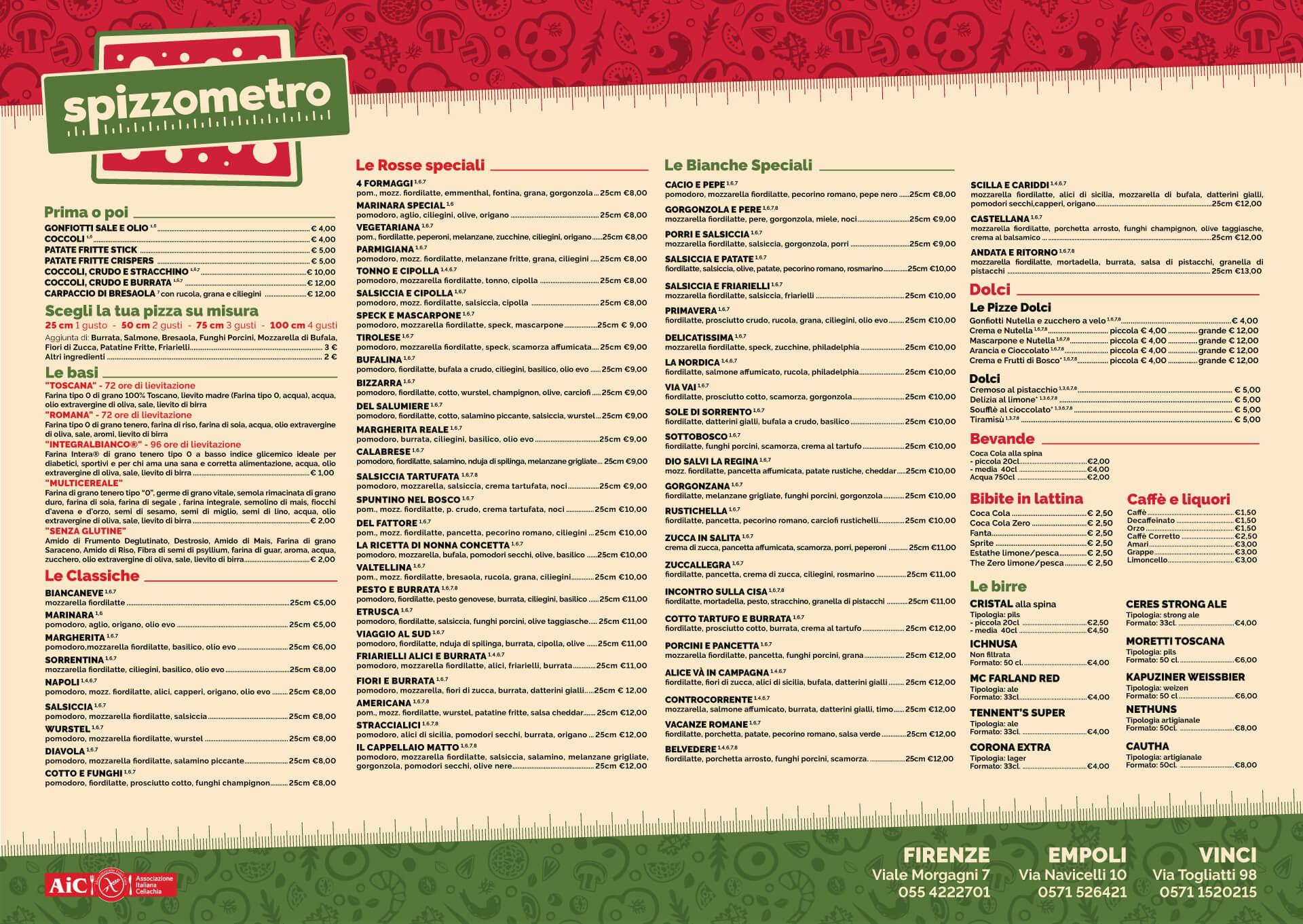 Scegli i tuoi ingredienti preferiti, e goditi il tuo Metro di pizza insieme a noi!